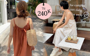 Chỉ từ 240k sắm váy hở lưng xinh yêu sexy lại mát rượi chấp hết nắng nóng Sài Gòn