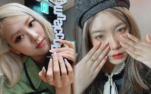 Mẫu nail của Rosé đang là hot trend ở các tiệm, chị em tậu một bộ là chuẩn trend mùa hè
