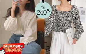 Mách các nàng chỗ mua áo blouse xinh như thiên thần giá chỉ từ 240k
