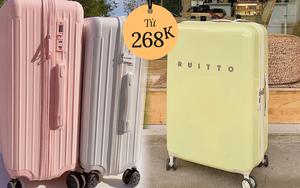 """Cực nhiều vali xinh đang sale chỉ từ 268k, săn ngay một """"em"""" còn đi du lịch các nàng ơi"""