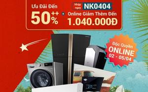 Check nhanh loạt deal 4/4 hời nhất tại các siêu thị điện máy: Máy giặt - sấy siêu rẻ, TV giảm đến 50%
