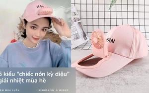 """Trời nóng thế này, tia ngay 5 """"chiếc nón kỳ diệu"""" tích hợp cả mũ lẫn quạt mini, giá chỉ từ 160K"""