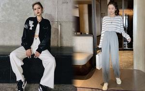 Xoài Non, Linh Ka mách chị em nơi mua quần ống rộng siêu hack dáng giá chưa đến 100k