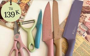 """Tổng hợp bộ dao nhà bếp """"ngon nghẻ"""" giá chỉ từ 139k giúp công cuộc nấu nướng của chị em dễ dàng hơn"""