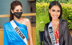 """Khánh Vân lan toả """"trái tim ấm áp"""" tại Miss Universe: Xung phong cứu nguy đối thủ đại diện Myanmar gặp sự cố mất hết vali"""