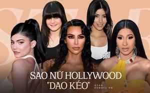 """Sự tích sao nữ Hollywood """"dao kéo"""": Cardi B biến chứng kinh dị, Victoria Beckham bơm đủ đường, Kylie sửa 1 điểm mà lột xác"""