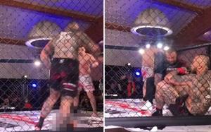Võ sĩ gãy gập chân kinh hoàng sau nỗ lực tấn công đối thủ
