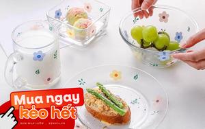 Hội chị em phù phiếm sẽ ưng: Tuyển tập bộ bát đĩa, cốc họa tiết hoa xinh mê mẩn cho mùa hè