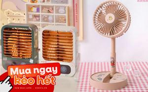 Nóng lắm rồi, sắm quạt mini để bàn đi bạn ơi: Vừa làm mát vừa là đồ decor xinh xắn