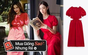Hà Hồ - Lương Thùy Linh đụng váy Zara màu đỏ chứng minh hè này chị em nhất định nên sắm một chiếc