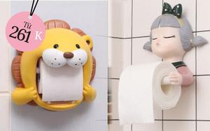 Hộp đựng giấy vệ sinh giờ có nhiều kiểu cute lắm, xem mà muốn khuân về ngay