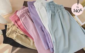 """Sắm quần short cạp chun mặc hè là """"bao mát"""", nhiều mẫu xinh mà giá chỉ từ 140k"""