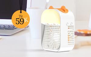 Quạt hơi nước, điều hòa mini để bàn sale siêu rẻ: Tậu ngay để tăng gấp đôi độ mát, xua tan cái nóng