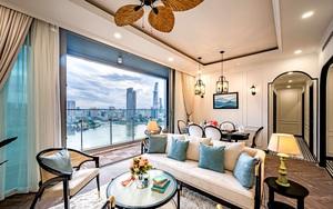 Căn hộ Indochine ăn điểm với cách phối màu cực tinh tế, phòng ngủ chuẩn khách sạn 5 sao với view