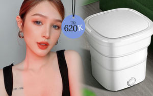 Xoài Non mách chị em loại máy giặt siêu tiện: Nhỏ xíu, có thể gấp gọn, được khen giặt cực sạch