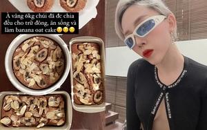 Sắm khay nướng giống Tóc Tiên để làm quen với bộ môn nướng bánh: Xả stress lại tha hồ sáng tạo công thức healthy