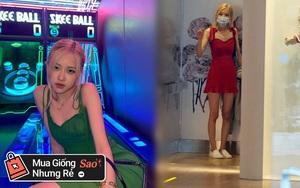 Rosé mặc váy hai dây xinh quá mà xem giá thì