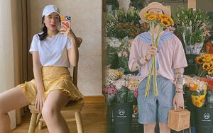 """Chỉ cần sắm áo thun trơn giá từ 149K để việc mặc """"chất"""" hàng ngày dễ như ăn kẹo, không tin thì bạn xem ngay loạt outfit của Hà Trúc và Mon Simi này!"""