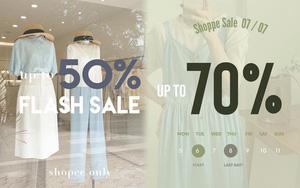 """Nhiều shop sale 7/7 rần rần rồi các chị em: Giảm đến 70% mà toàn đồ đẹp, """"vợt"""" ngay bây giờ là tiết kiệm lắm"""