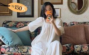 Hà Trúc ở nhà vẫn diện váy babydoll xinh như công chúa, từ 150k là các nàng sắm được chiếc tương tự rồi