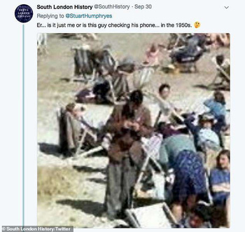 Cư dân mạng điều tra: Chỉ vì tư thế lạ, thanh niên trong tấm ảnh 75 năm trước bị đồn là người du hành thời gian - Ảnh 2.