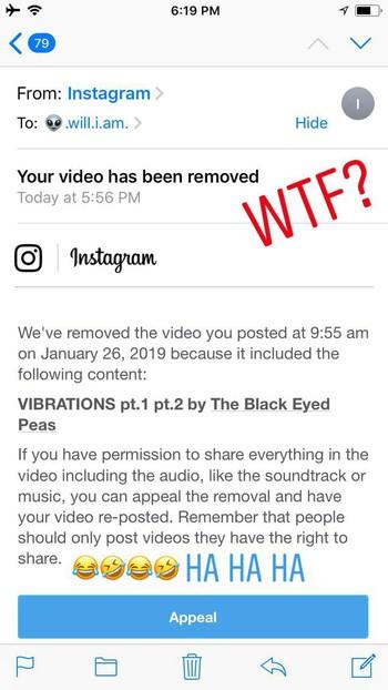 Rapper đình đám will.i.am (Black Eyed Peas) bị Instagram phốt dằn mặt, nhưng sự thật thì ngố hết chỗ nói - Ảnh 1.