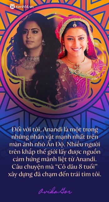 """Phỏng vấn độc quyền """"Cô dâu 8 tuổi Avika Gor ngày Tết: Lần đầu kể về cái duyên hiếm có với Anandi, thay đổi cả nền điện ảnh Ấn Độ và chuyện tình cảm với bạn thân tài tử - Ảnh 3."""