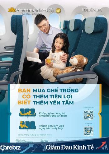 Vừa thưa khách lại hạn chế bay, Vietnam Airlines tung luôn dịch vụ mua ghế trống vừa để khách ngồi thoải mái, lại còn tạo khoảng cách an toàn trong dịch COVID-19 - Ảnh 1.