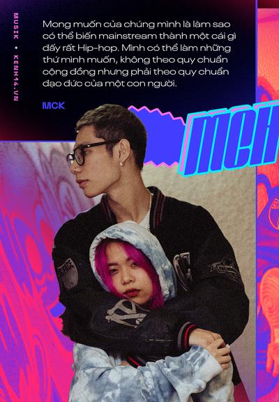 Cặp đôi MCK và Tlinh: Muốn biến mainstream trở nên Hip-hop hơn, thấy sai khi đã dùng tiêu cực để đáp lại tiêu cực - Ảnh 8.