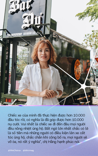 """Người phụ nữ đứng sau chiếc xe cắt tóc tiền tỷ đi khắp Việt Nam gom 10.000 nụ cười gây quỹ: """"Ngày nào ít tiền thì đó là ngày hạnh phúc nhất"""" - Ảnh 2."""