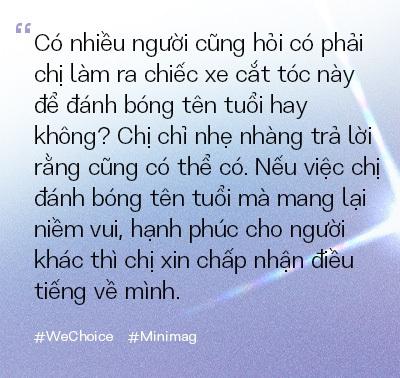 """Người phụ nữ đứng sau chiếc xe cắt tóc tiền tỷ đi khắp Việt Nam gom 10.000 nụ cười gây quỹ: """"Ngày nào ít tiền thì đó là ngày hạnh phúc nhất"""" - Ảnh 10."""
