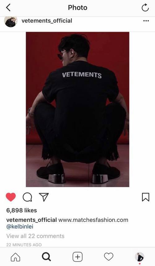 Kelbin Lei tiếp tục được thương hiệu đình đám Vetements lăng xê trên Instagram - Ảnh 2.