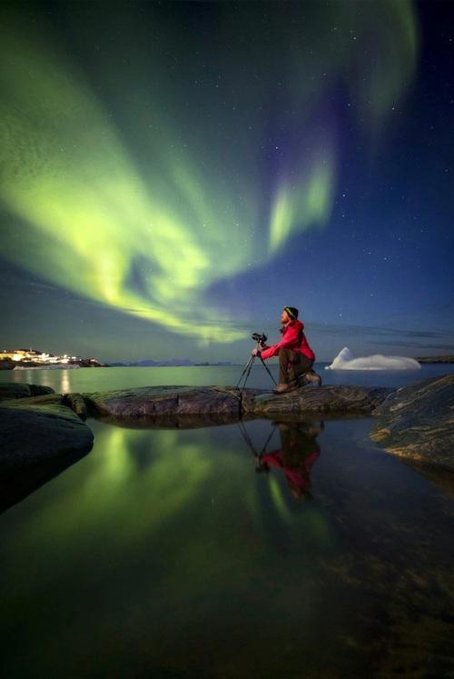 Những bức ảnh hiện tượng cực quang ở đảo Greenland đầy choáng ngợp khiến người xem cảm giác như đang lạc ra ngoài không gian - Ảnh 8.