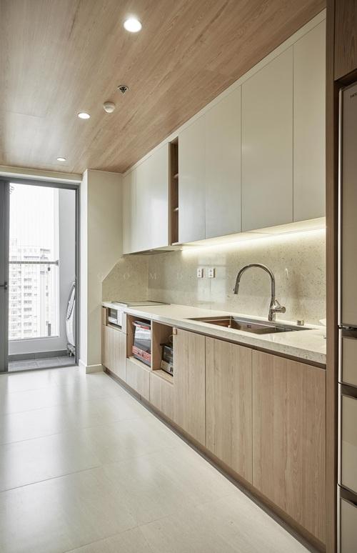 Căn hộ 130m2 lột xác với chi phí 1,1 tỷ đồng, chủ nhà đập hết tường ngăn để nhường diện tích cho phòng khách - Ảnh 7.