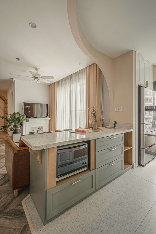 Tậu căn hộ Vinhomes Ocean Park 98m2, vợ chồng trẻ chi 350 triệu thiết kế theo style chuẩn tây quá ấm áp bình yên - Ảnh 5.