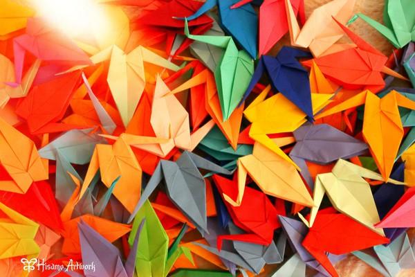 1-02fa5. Họa sĩ Hisame Artwork đã tự tay gấp 1000 con hạc giấy ...