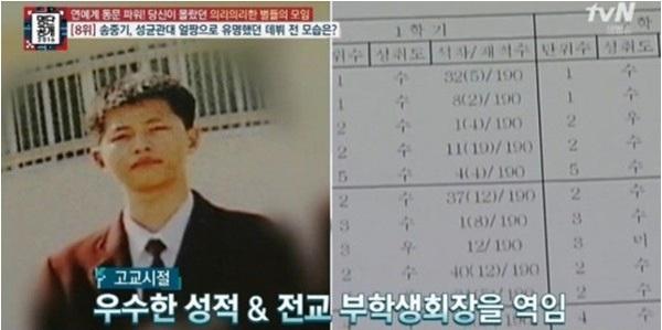 Không chỉ điển trai, đại úy Song Joong Ki còn học cực giỏi với bảng điểm cấp 3 siêu khủng - Ảnh 1.