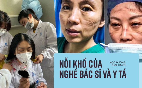 Nhìn loạt ảnh mặt biến dạng do đeo khẩu trang, phải cắt tóc, mặc bỉm cả ngày... của đội y tá, bác sĩ ở Vũ Hán để thấy ngành này khổ thế