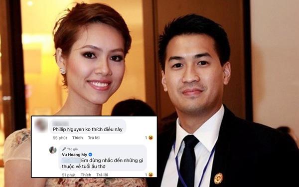 Á hậu Hoàng My phản ứng như thế nào khi bất ngờ bị nhắc tới tình cũ Phillip Nguyễn?