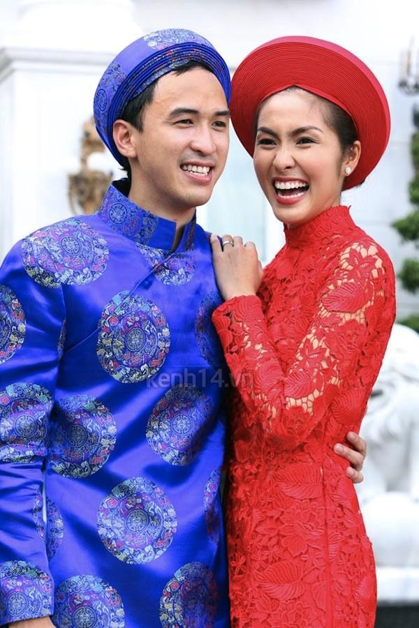 Những cô dâu của showbiz Việt diện áo dài trong ngày cưới hỏi 1