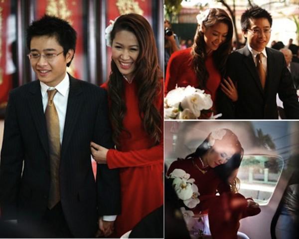 Những cô dâu của showbiz Việt diện áo dài trong ngày cưới hỏi 15