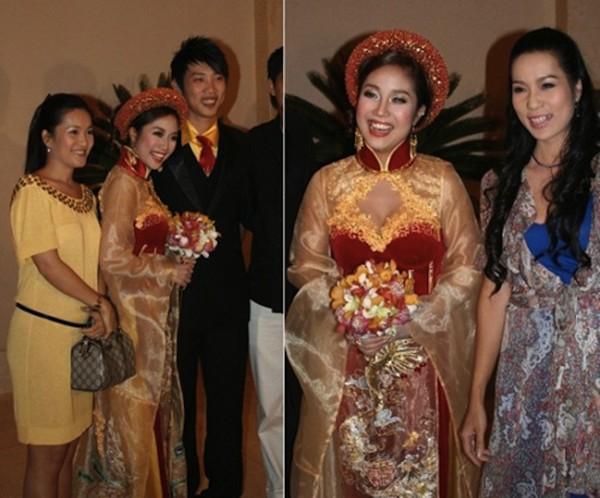 Những cô dâu của showbiz Việt diện áo dài trong ngày cưới hỏi 24