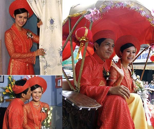Những cô dâu của showbiz Việt diện áo dài trong ngày cưới hỏi 25