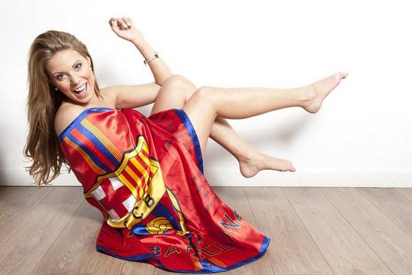 Hoa hậu Tây Ban Nha khỏa thân bên cờ Barcelona 3