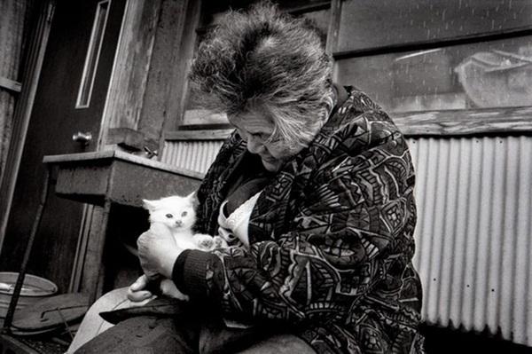 Bộ ảnh cảm động của cụ bà sống hạnh phúc cùng mèo   6