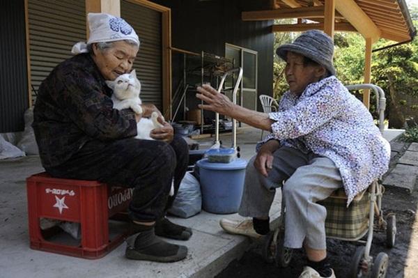 Bộ ảnh cảm động của cụ bà sống hạnh phúc cùng mèo   16