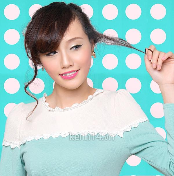 3 xtyle búi tóc phồng Hàn Quốc cực xinh 2