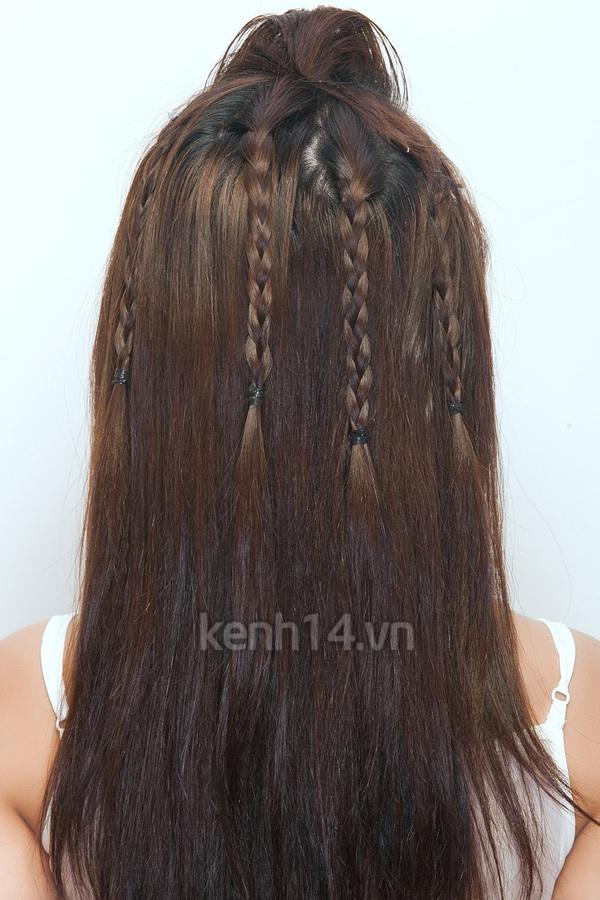 """Thực hiện 3 kiểu tóc tết """"siêu"""" dễ & kute 8"""
