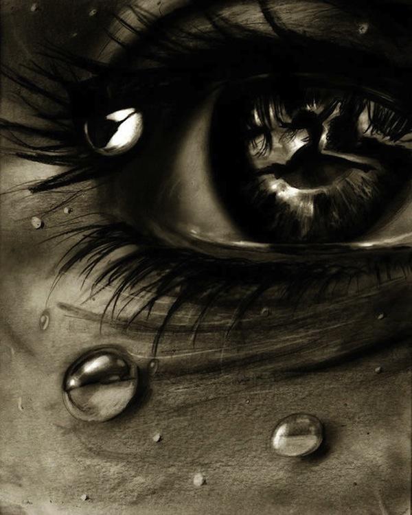 Tranh vẽ mắt ám ảnh, người 2 mặt 2