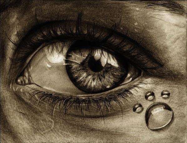 Tranh vẽ mắt ám ảnh, người 2 mặt 4
